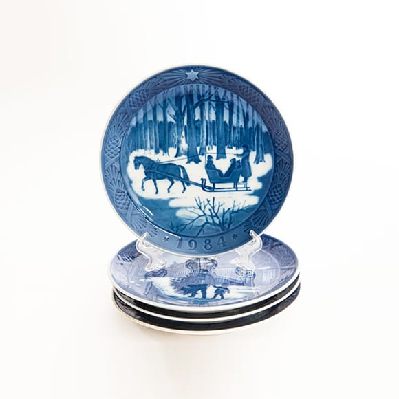Collection of Royal Copenhagen Christmas plates